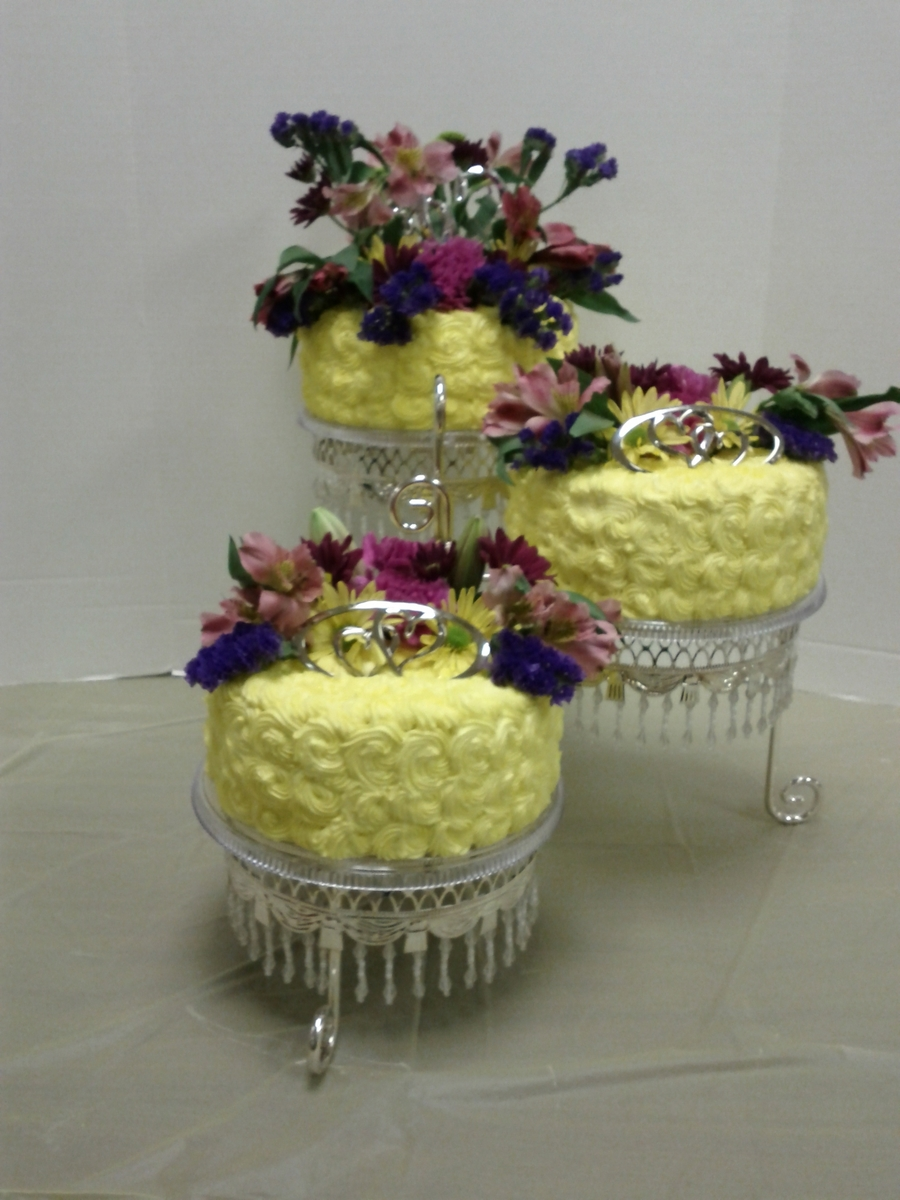 Live Flowers Shower Cake on Cake Central