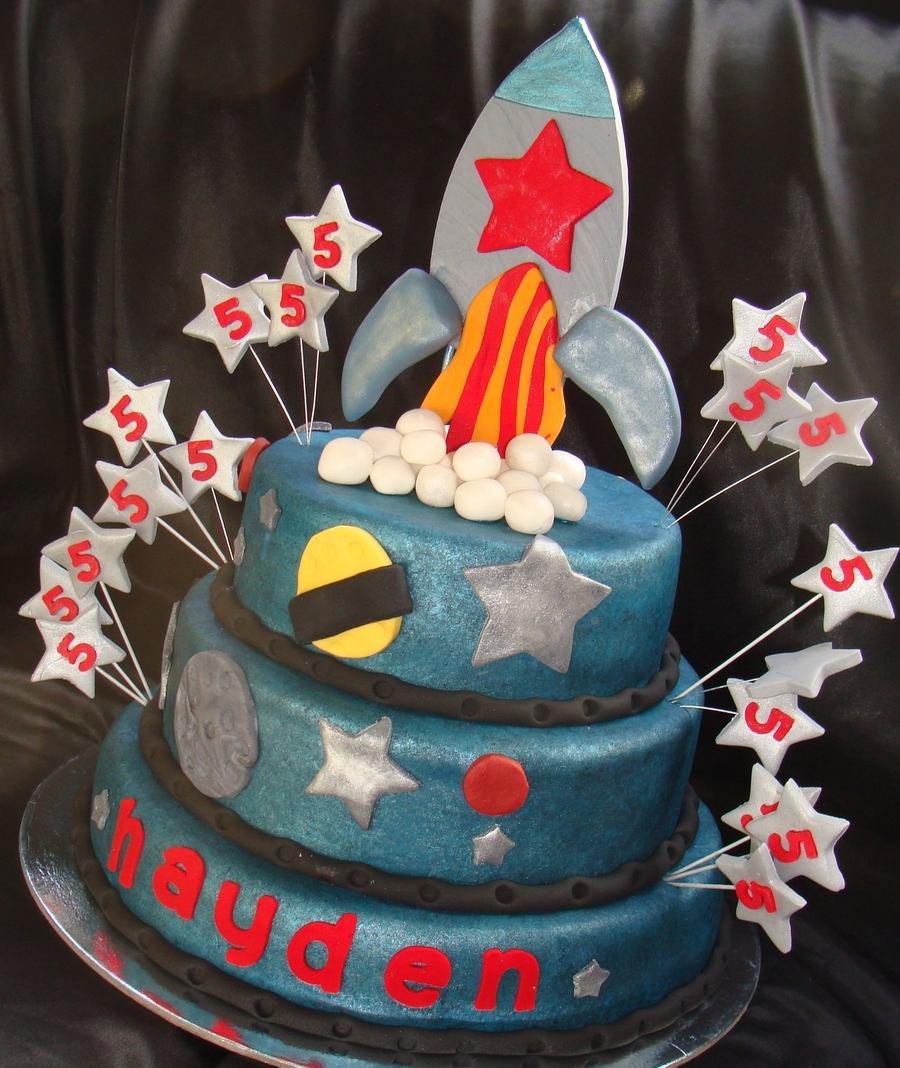 Rocket/space Themed Cake on Cake Central