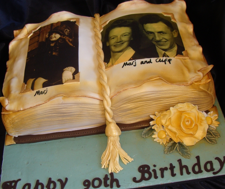 Antique Photo Album Cake on Cake Central