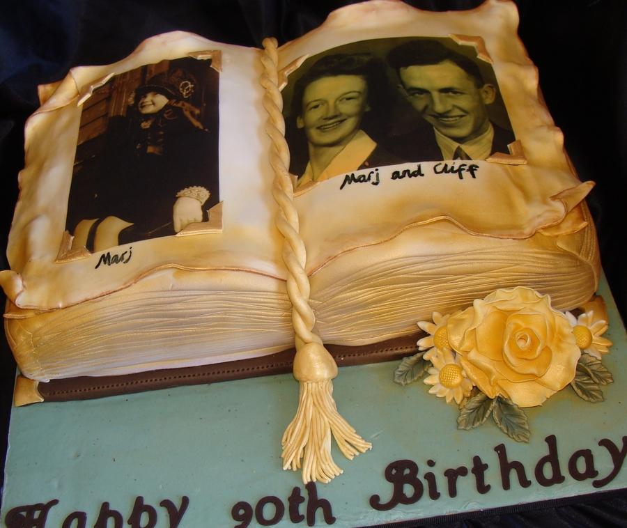 Antique Photo Album Cake