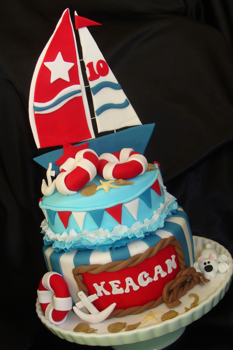 Nautical Themed Cake For Junior Yachtie CakeCentralcom