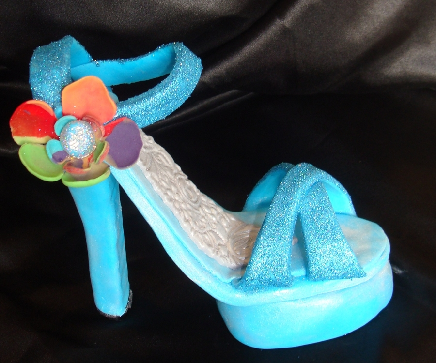 Disco Shoe on Cake Central