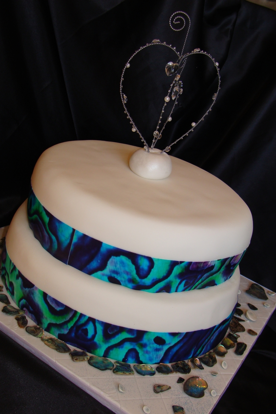 Paua Shell Wedding Cake Cakecentral Com