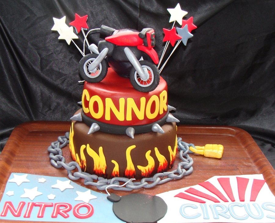 Nitro Circus Themed Cake on Cake Central