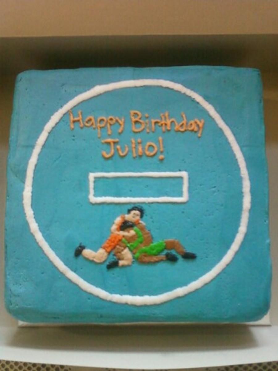 High School Wrestling Birthday Cake Cakecentral