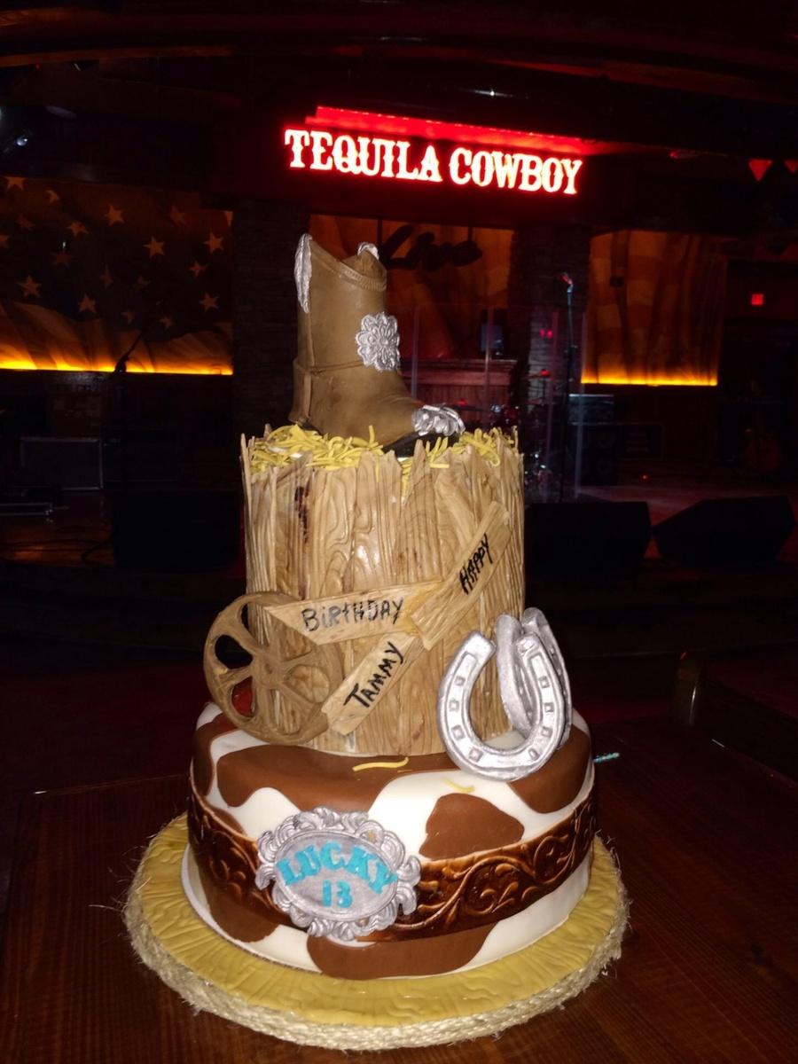 Western Birthday Cake - CakeCentral.com