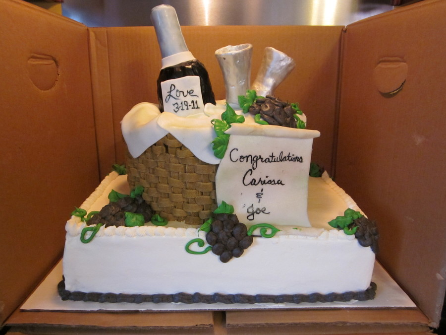 wine themed bridal shower on cake central