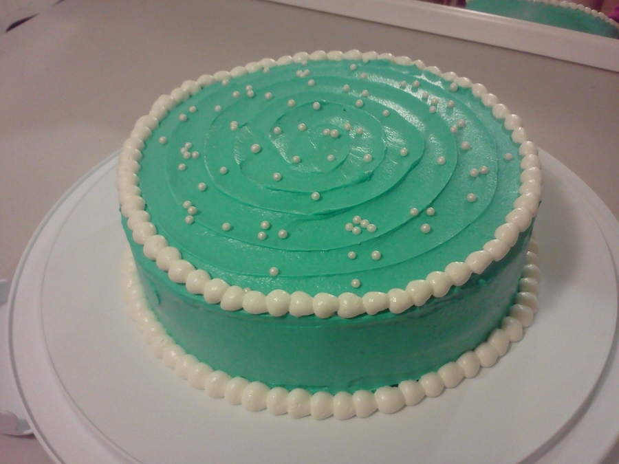 Pretty Teal Cake on Cake Central
