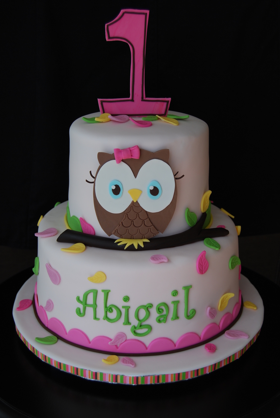 Wondrous Owl First Birthday Cakecentral Com Funny Birthday Cards Online Alyptdamsfinfo