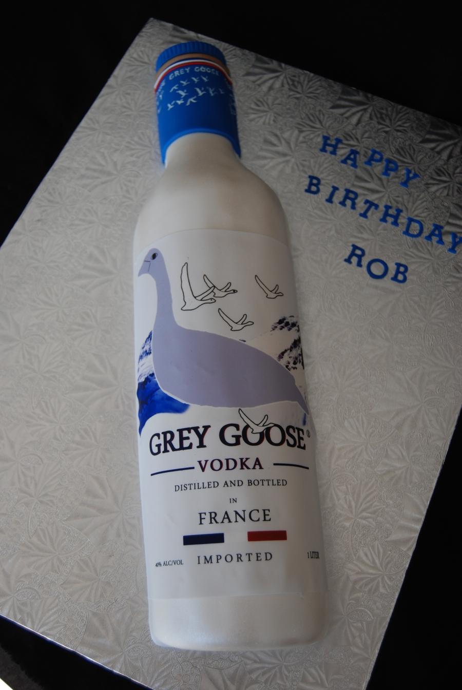 Grey Goose Vodka Bottle Cake Cakecentral Com