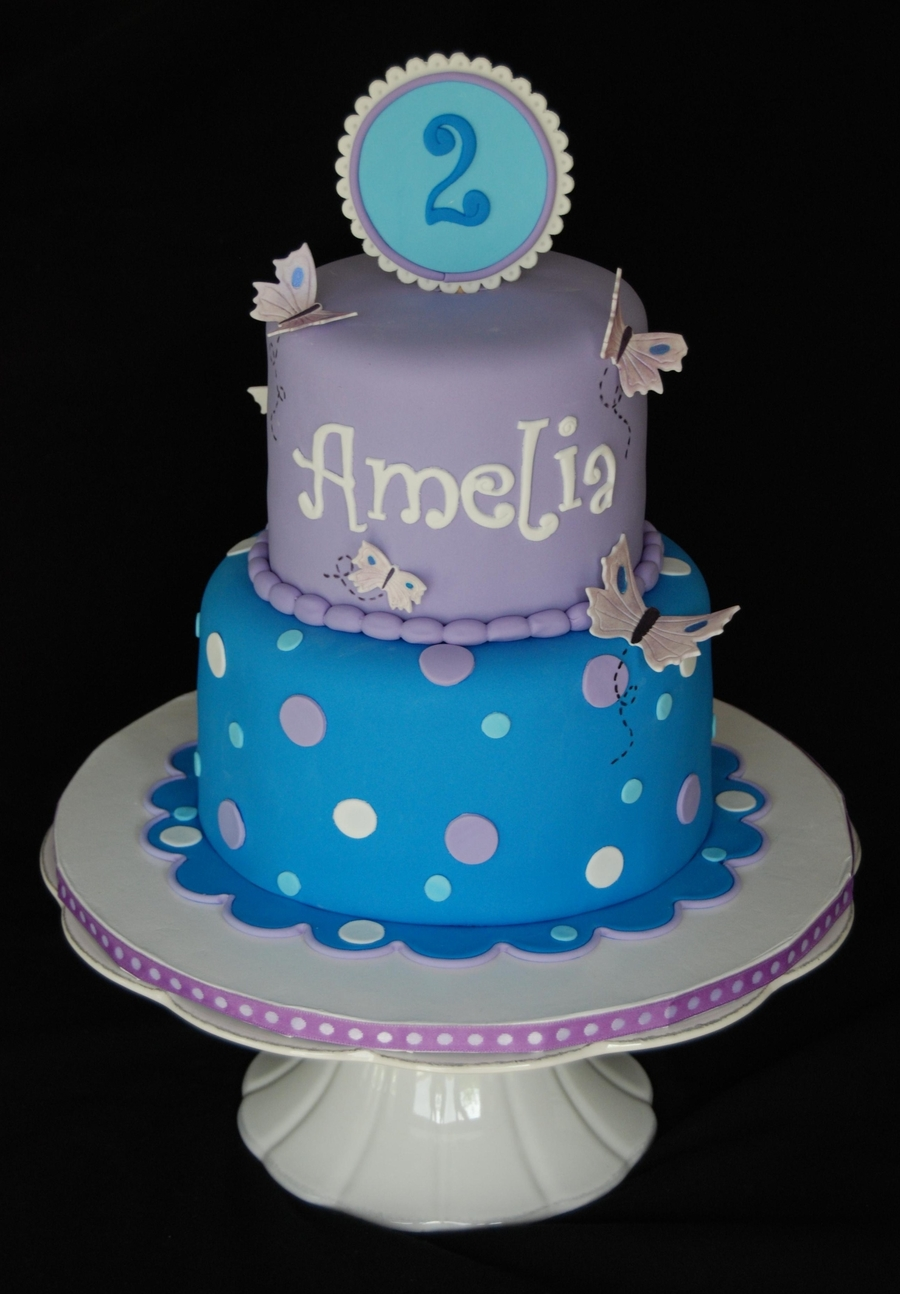 Butterflies And Polka Dots on Cake Central