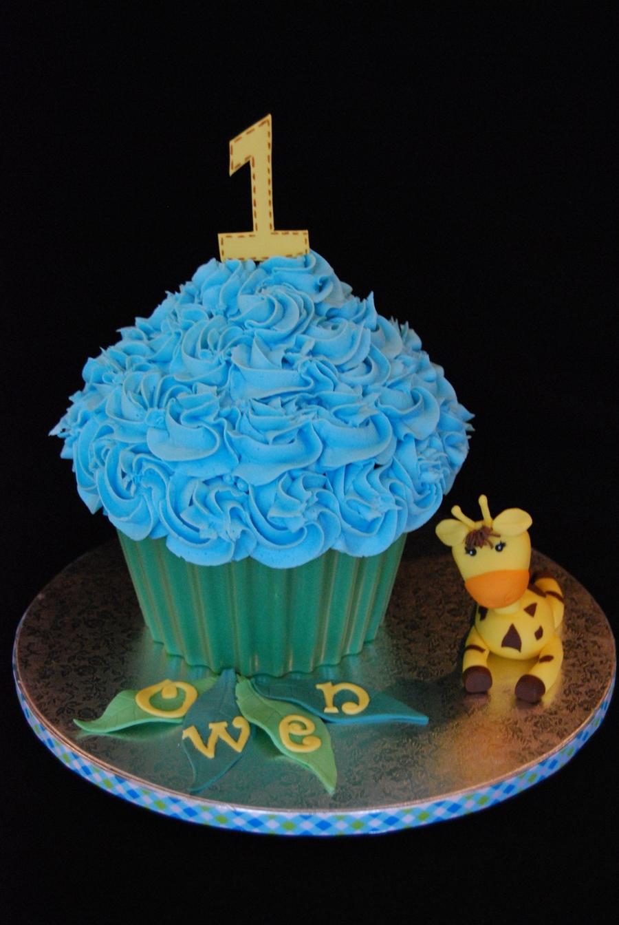 Giraffe First Birthday Smash Cake Cakecentral Com