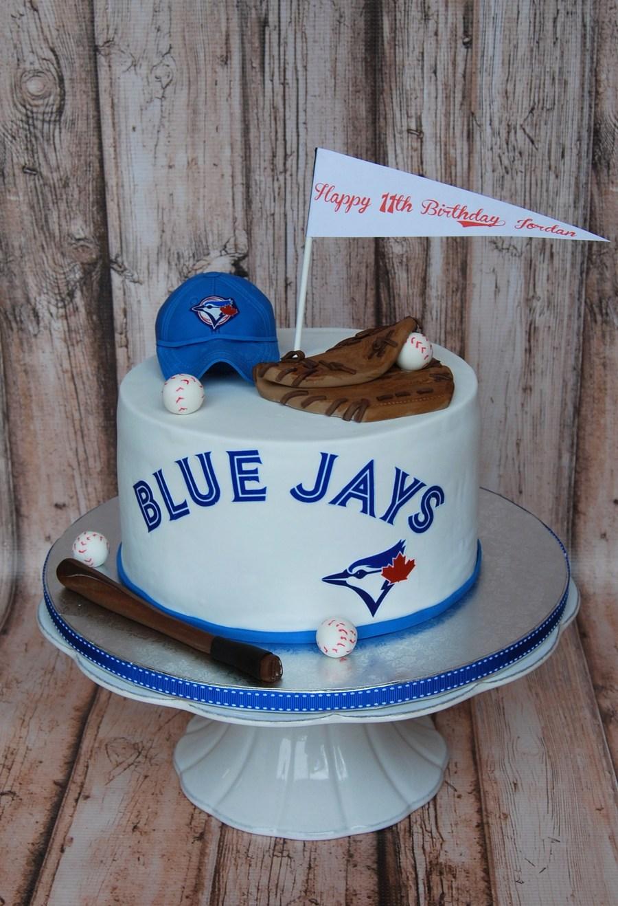 Toronto Blue Jays Baseball Cake CakeCentralcom
