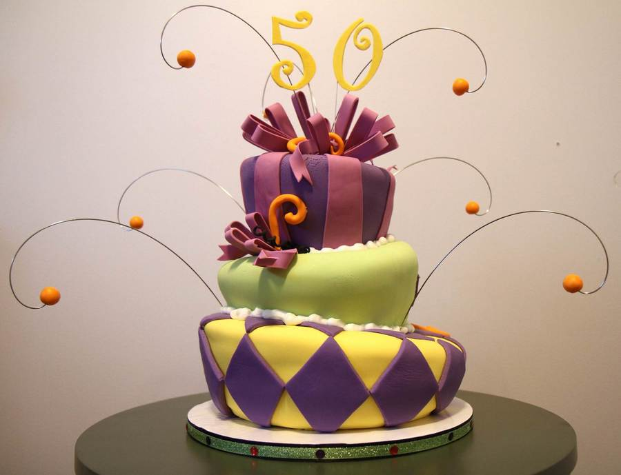 Topsy Turvy 50Th on Cake Central