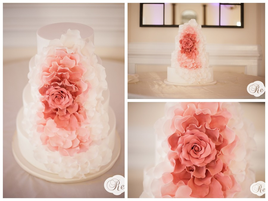 Ombred Pink Cascade Rose on Cake Central