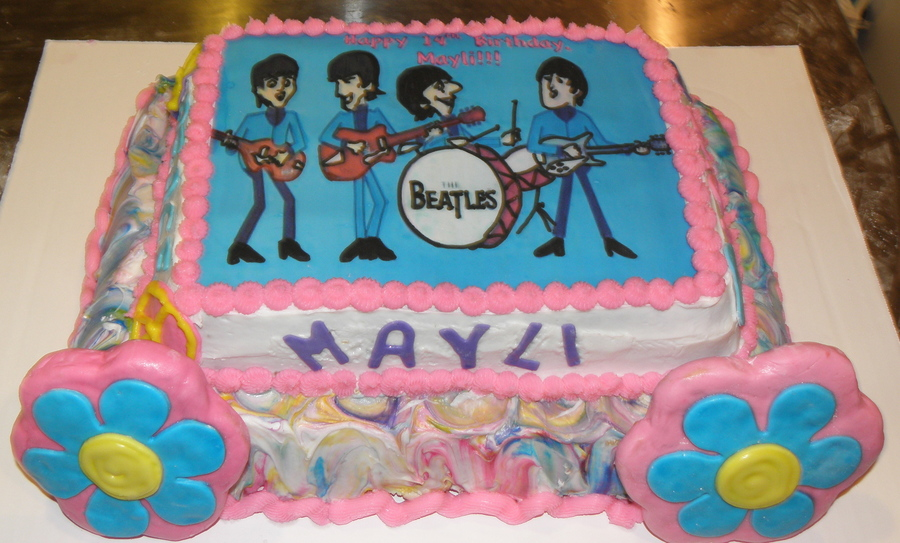 Beatles Birthday Cake For A 14 Yr Old Girl Cakecentral