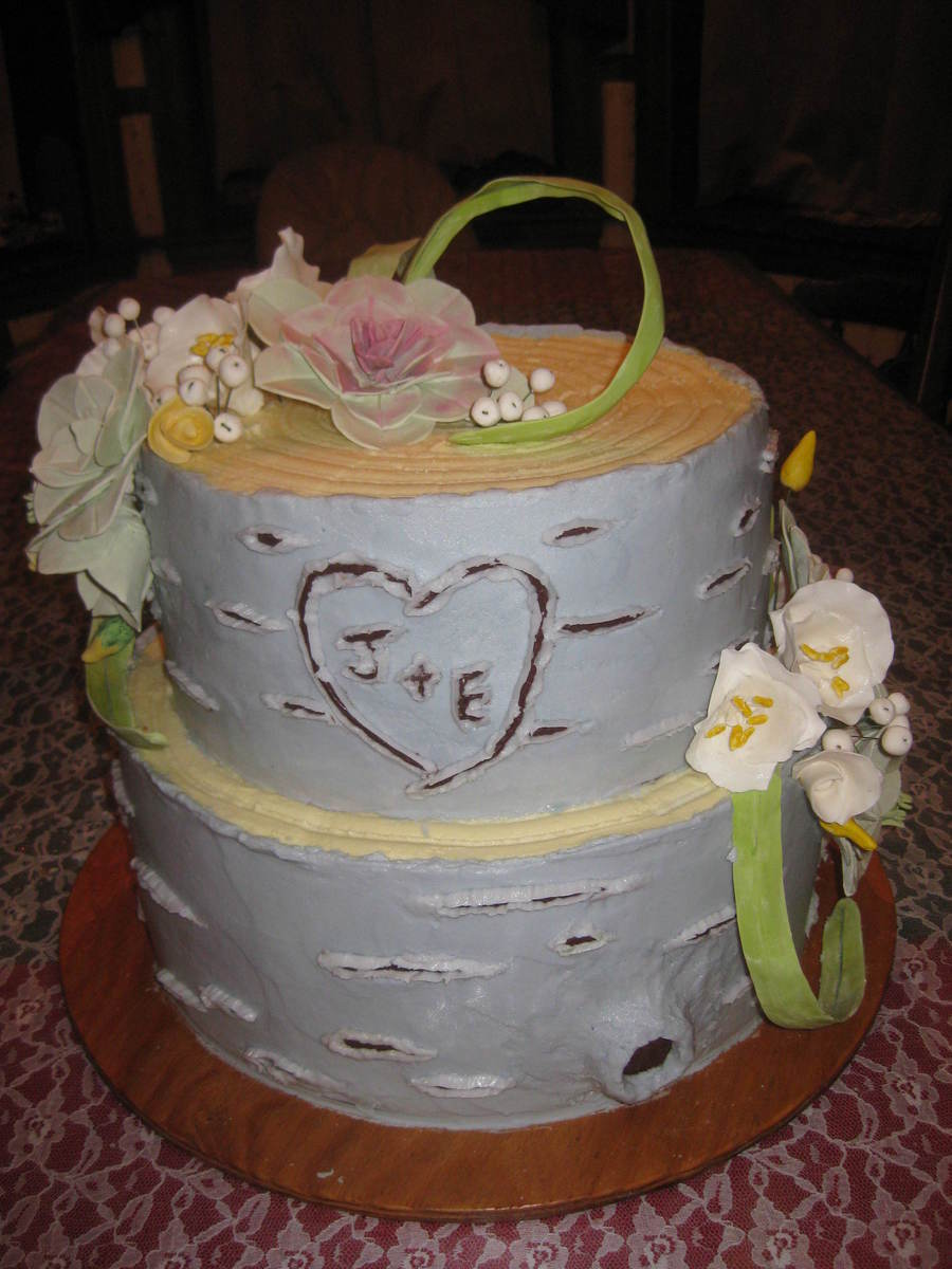 Wedding Cakes That Look Like Birch Bark