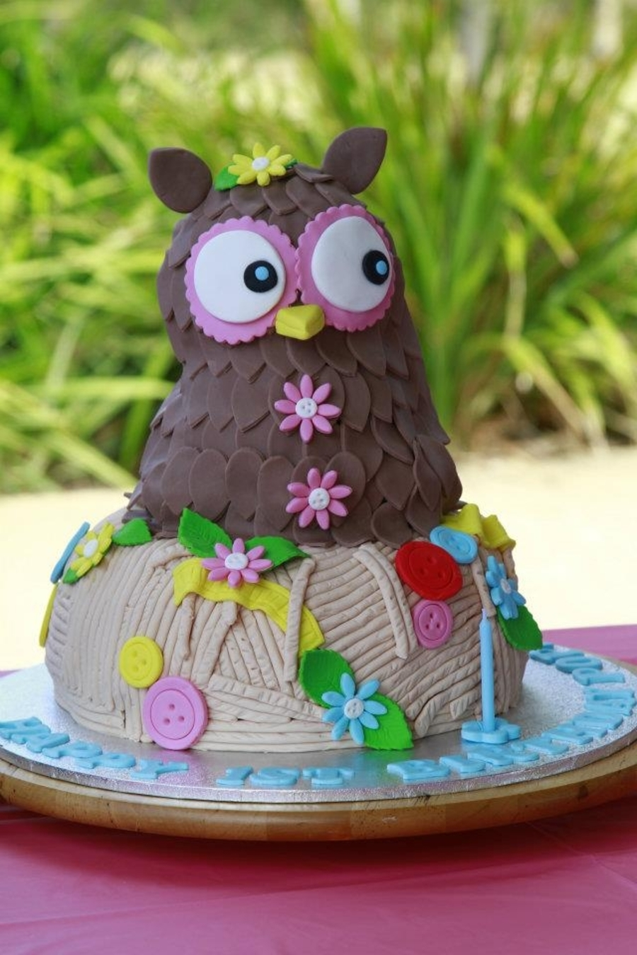 Owl In A Nest  on Cake Central