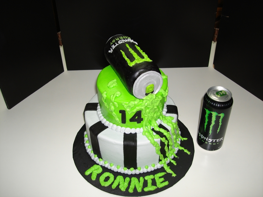 Monster Energy Drink Can Cake