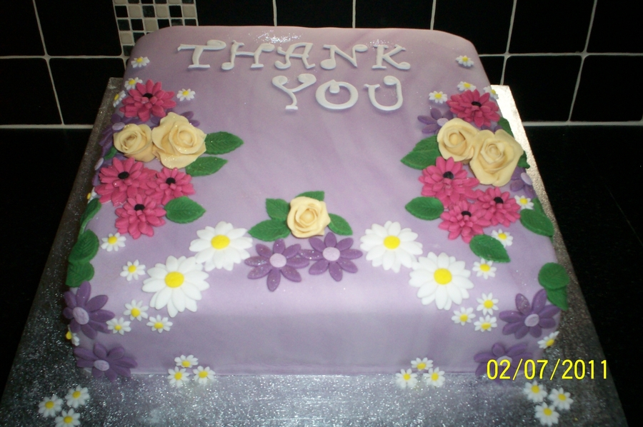 Many Many Thanks on Cake Central