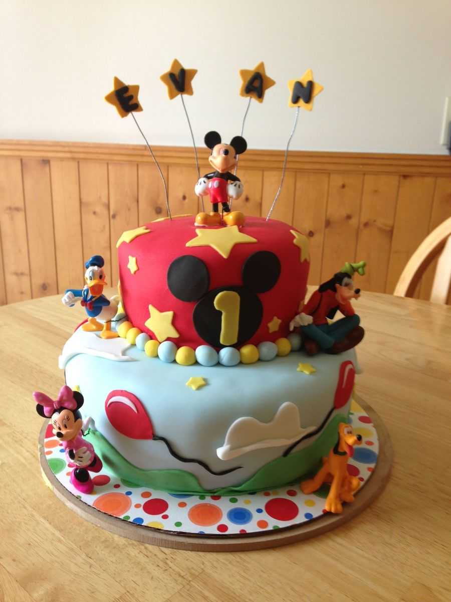 Mickey Mouse And Friends 1St Birthday Cake - CakeCentral.com