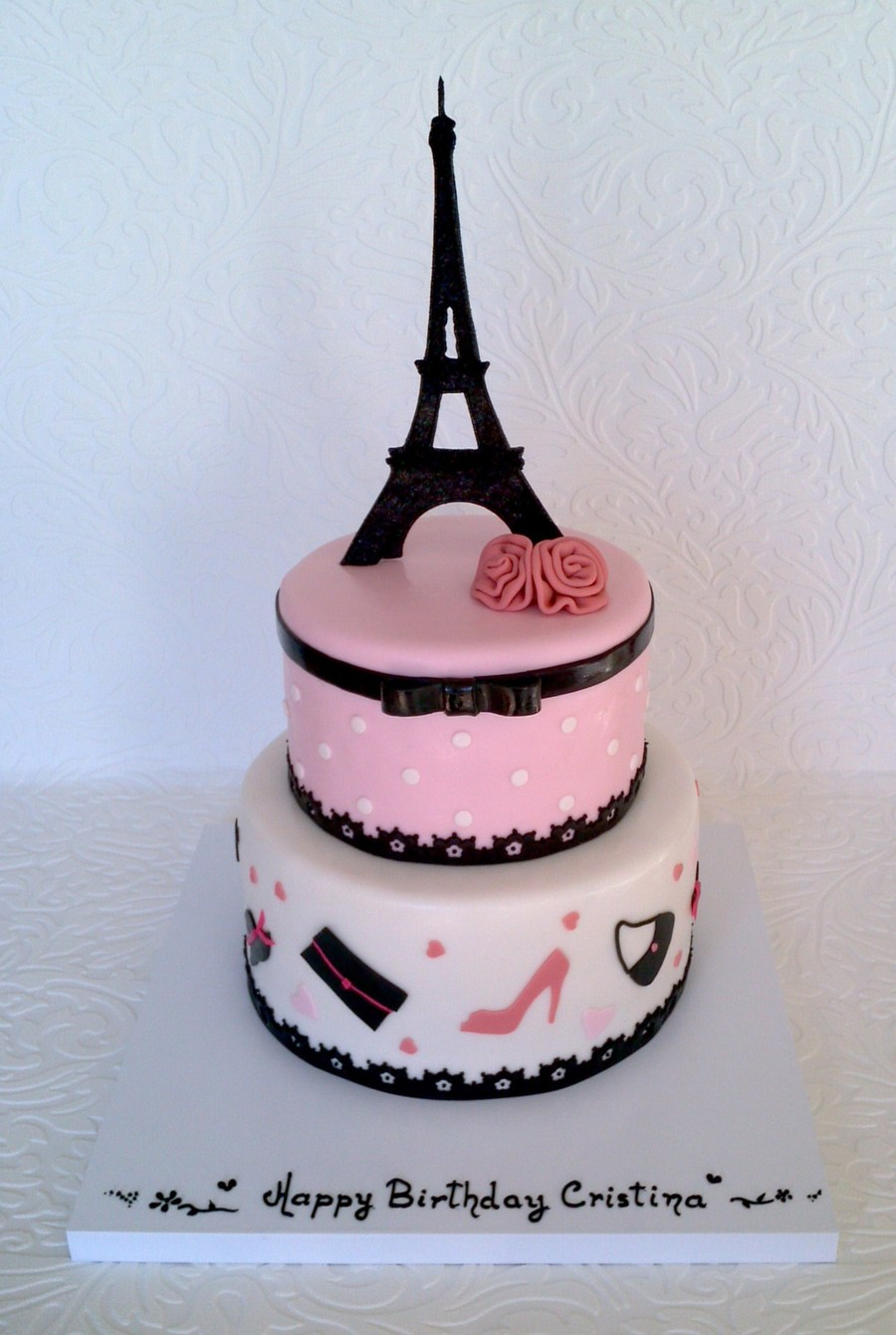 Astonishing Paris Fashion Cakecentral Com Funny Birthday Cards Online Overcheapnameinfo