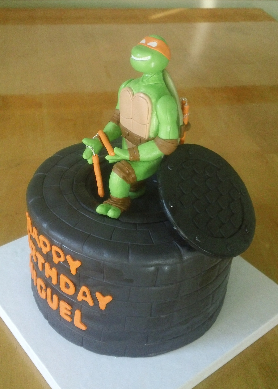 Tmnt Michelangelo on Cake Central