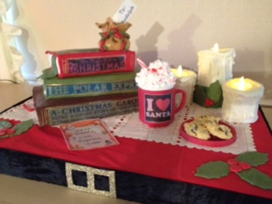 Christmas Book Cake on Cake Central