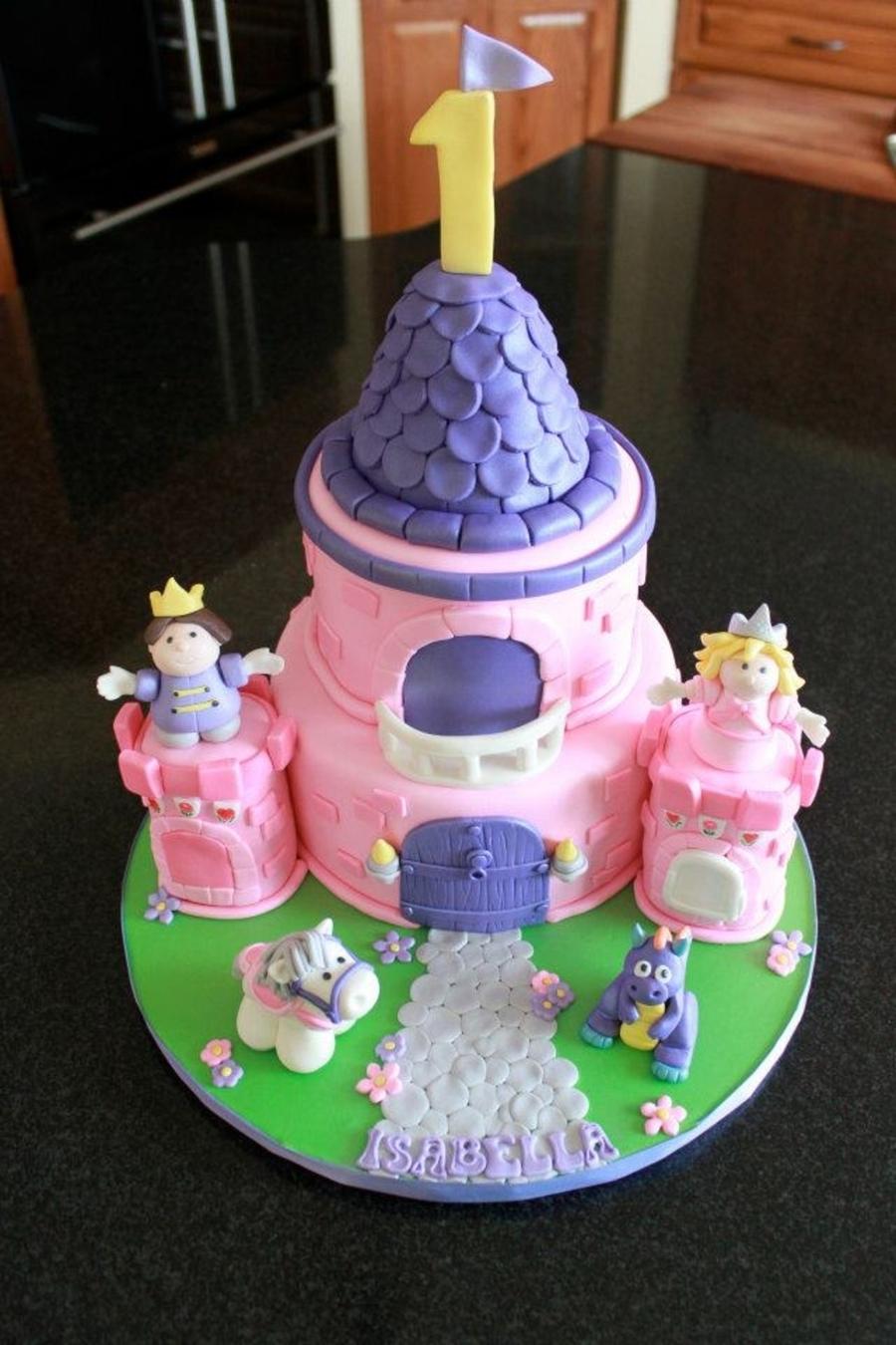 Astonishing Fisher Price Castle Cakecentral Com Personalised Birthday Cards Beptaeletsinfo