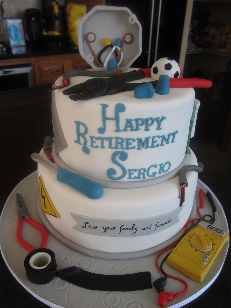 Electrician's Retirement on Cake Central