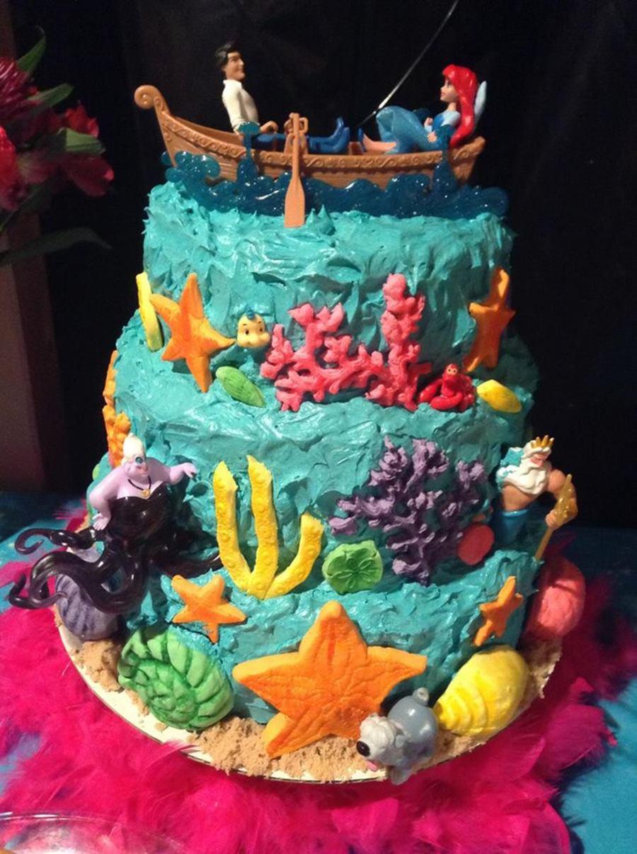 Ariel Cake Decorations My Grandaughters Lily 6th Ariel Little Mermaid Birthday Cake Cake