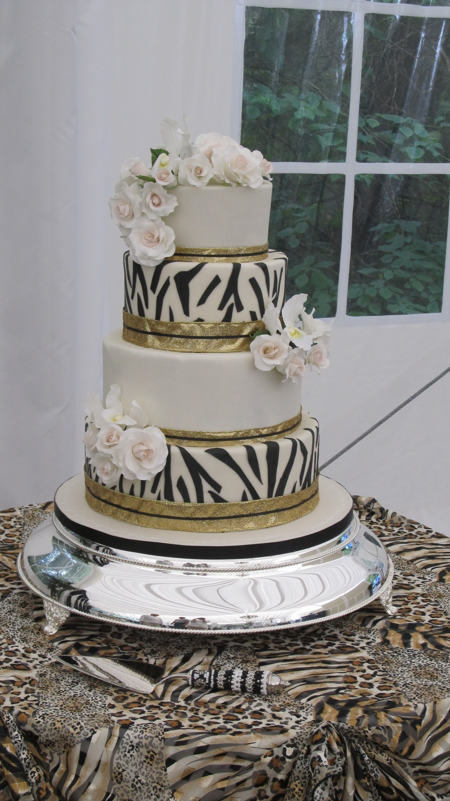Kate's African Theme Wedding Cake on Cake Central