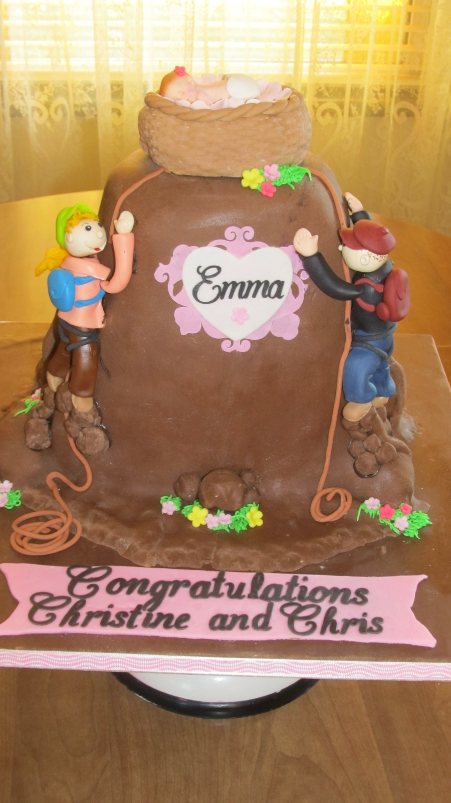 Rock Climbing Baby Shower Cake on Cake Central