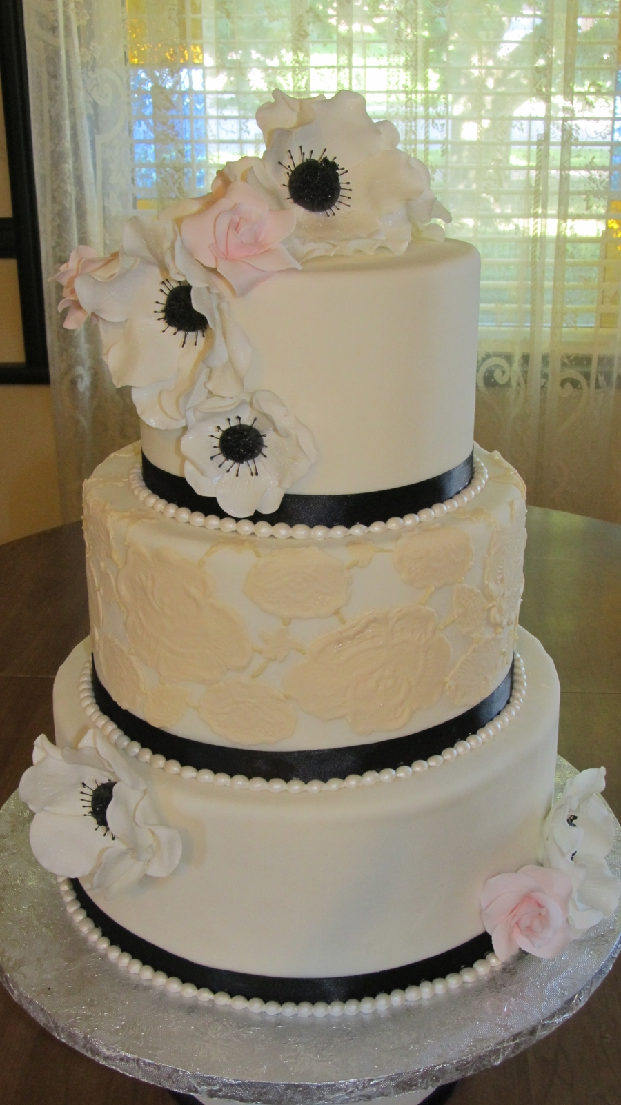 Christina's Wedding Cake on Cake Central