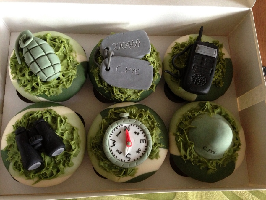 Army Inspired Cupcakes on Cake Central