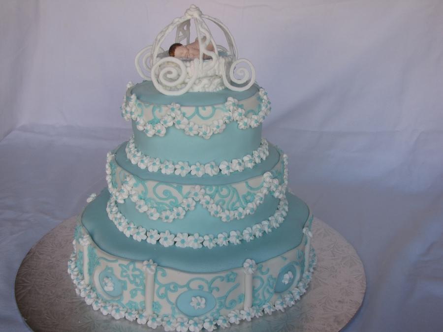Cinderella Baby Shower Cake Cakecentral Com