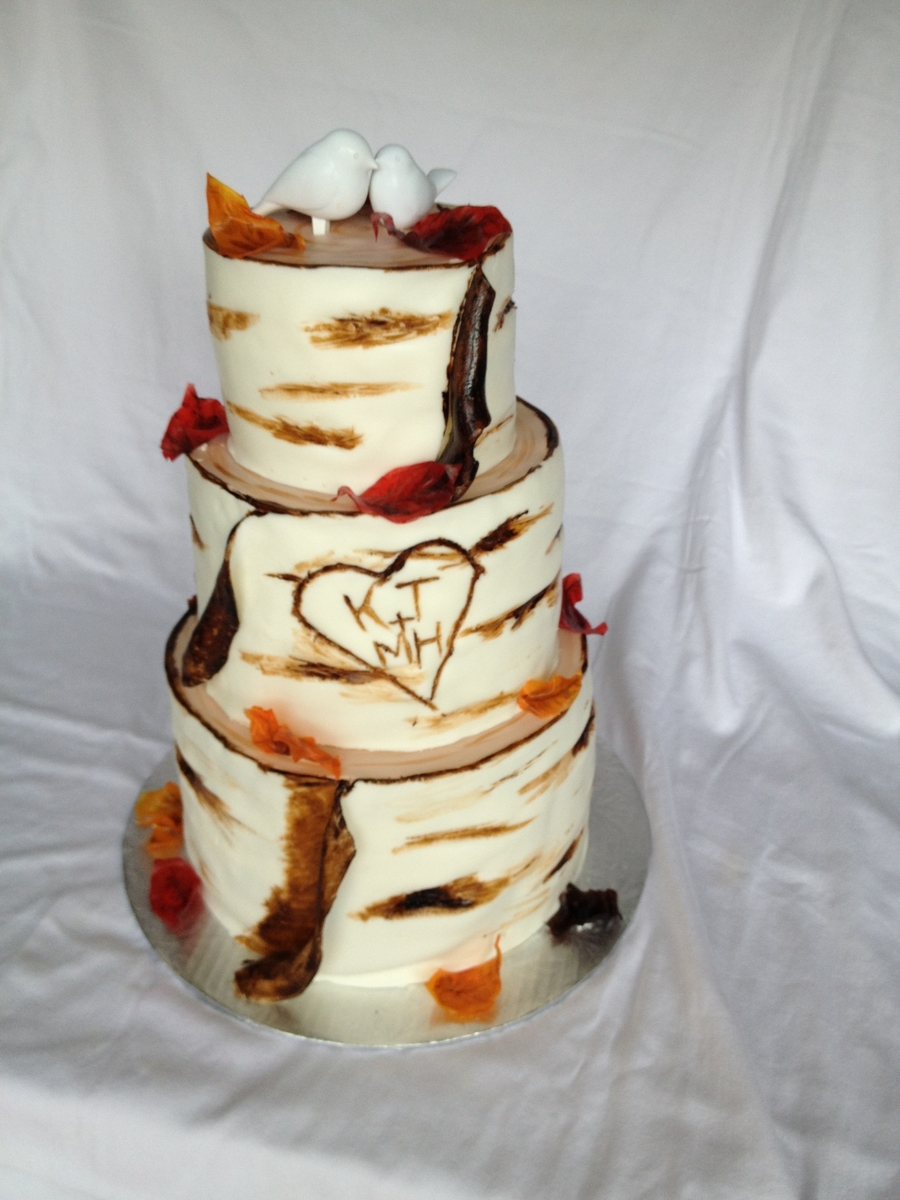 Birch Tree on Cake Central