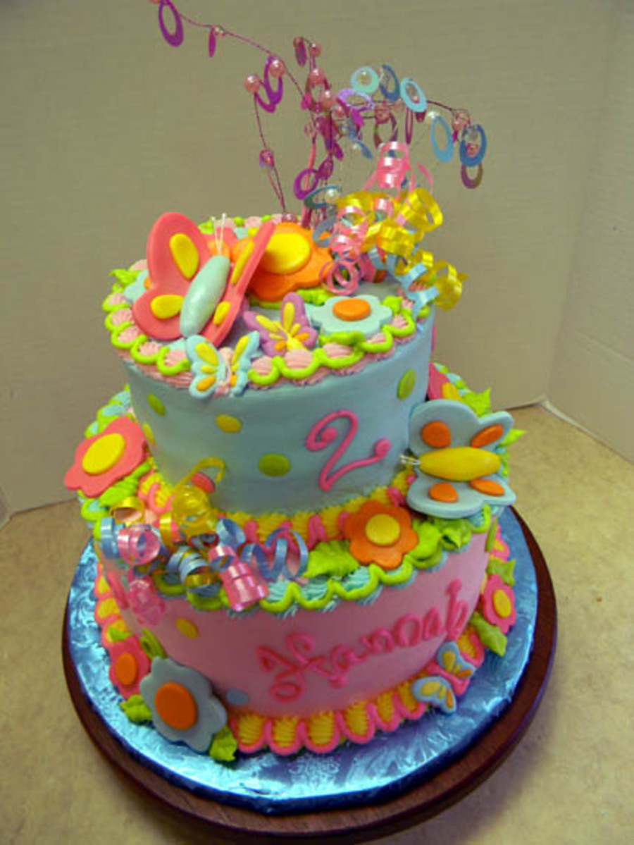 Colorful Butterflies on Cake Central