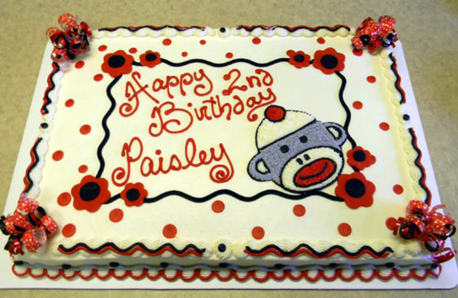 Sock Monkey Party on Cake Central