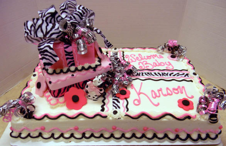 Zebra Stripe Baby  on Cake Central