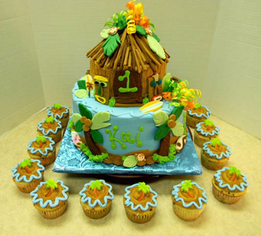 Luau 1St Birthday  on Cake Central