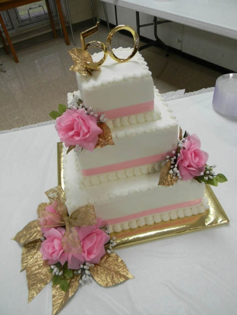 50Th Pink Style on Cake Central