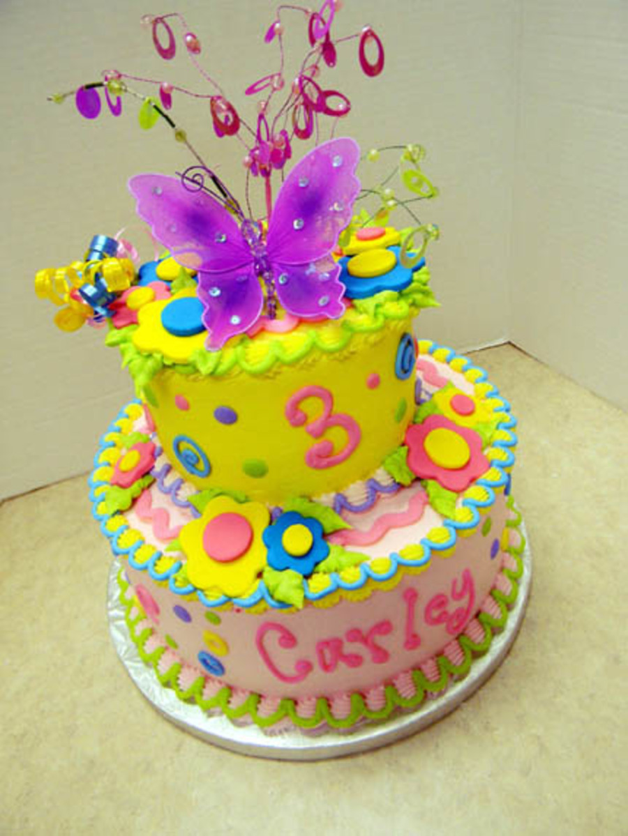 Bright Butterfly on Cake Central