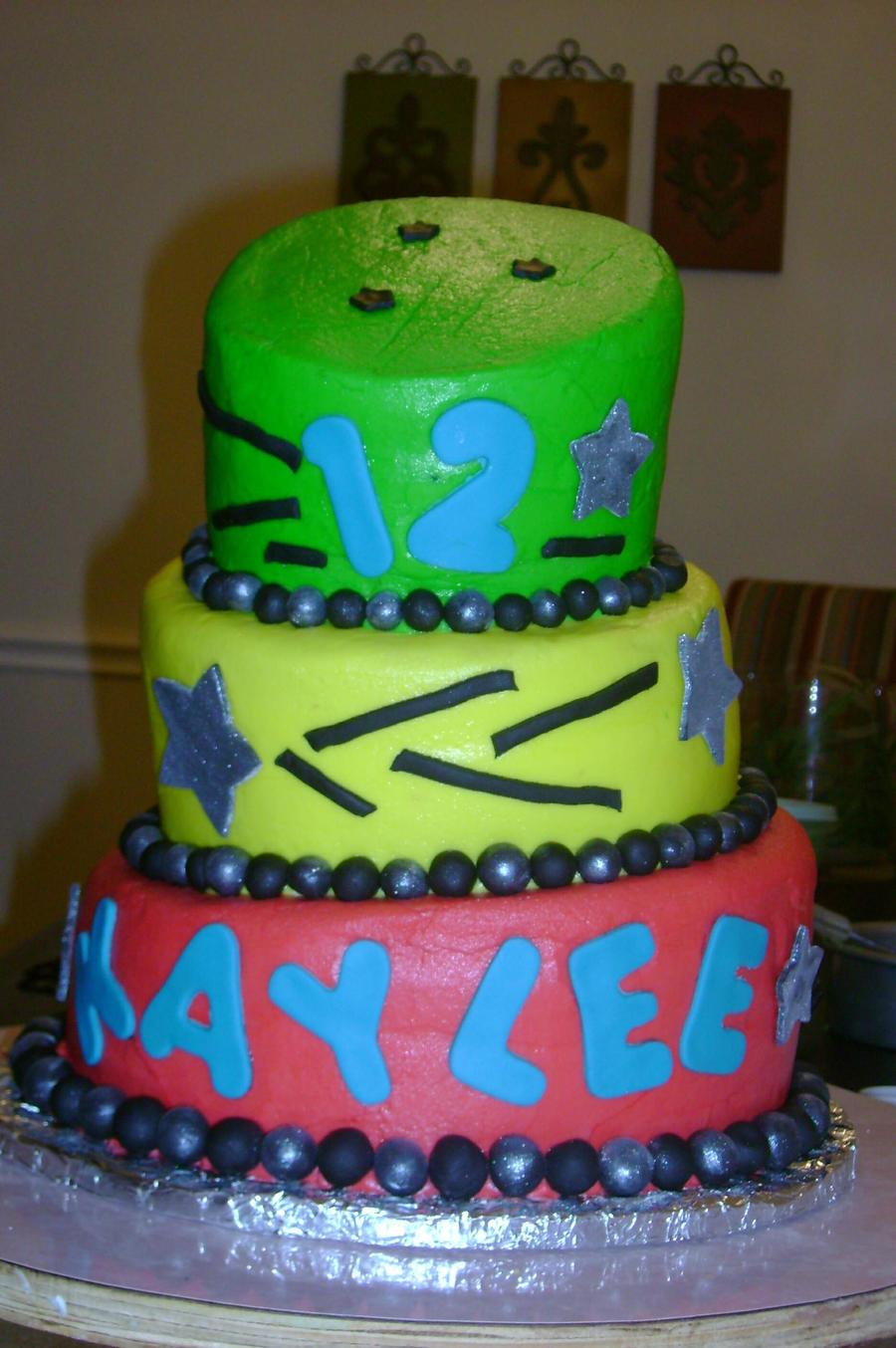 12Th Birthday Topsy-Turvy on Cake Central
