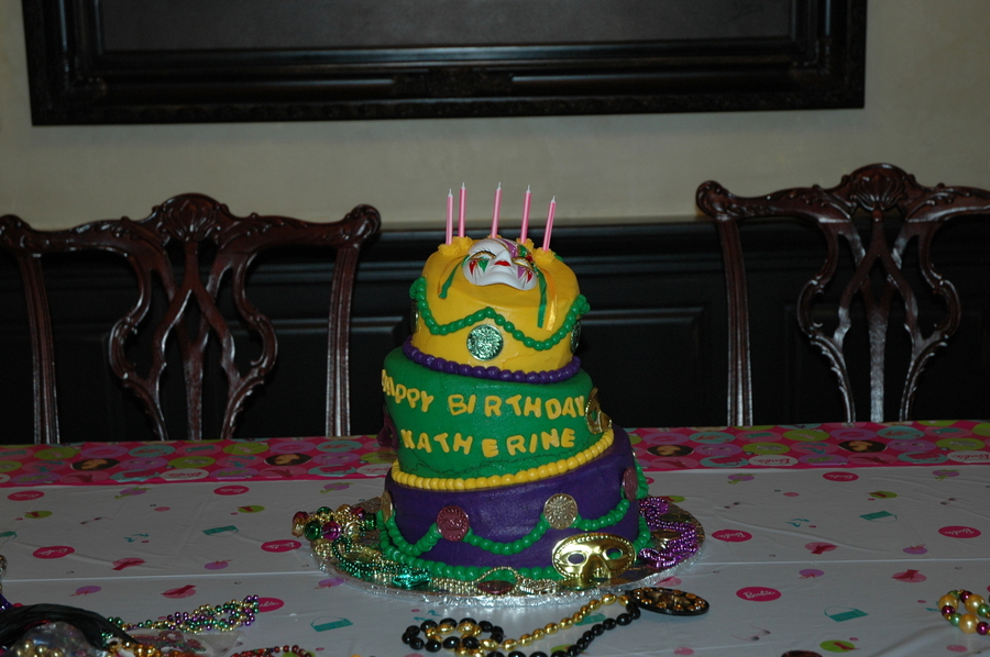 This Was For My Granddaughter Who Just Turned Five They Were In New Orleans Mardi Gras So Decided To Use That The Theme