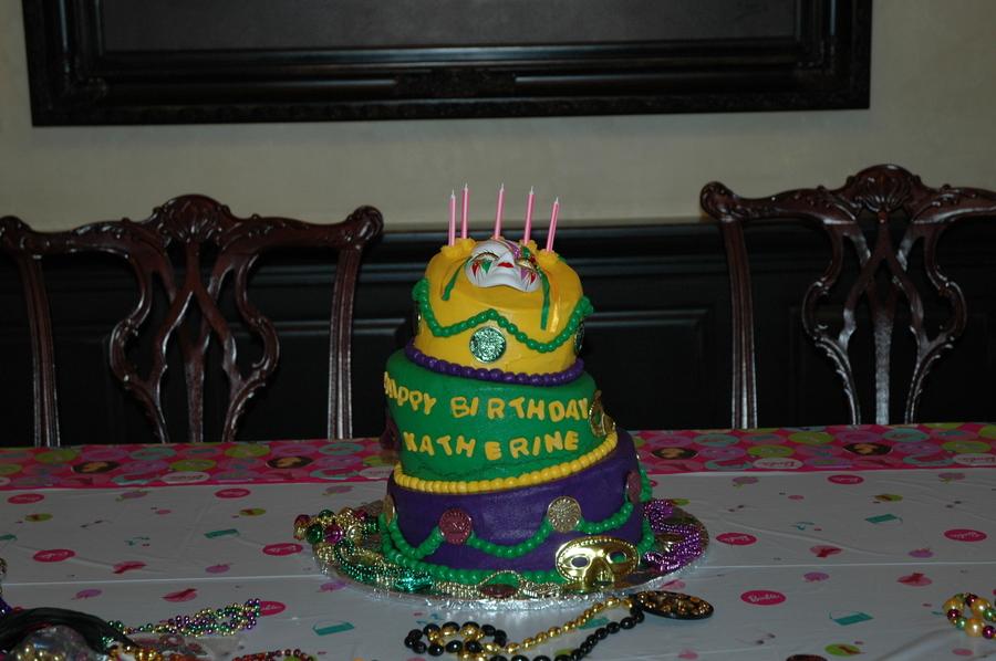 Mardi Gras Birthday Cake Cakecentral