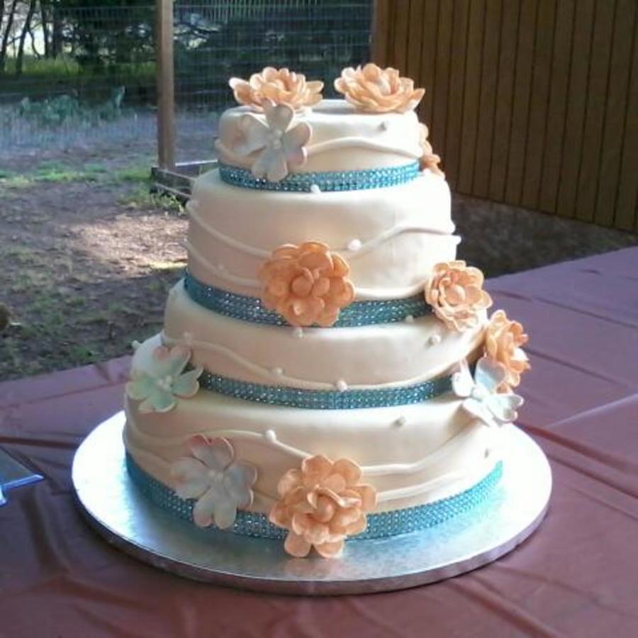 Beach Themed Wedding Cake CakeCentralcom