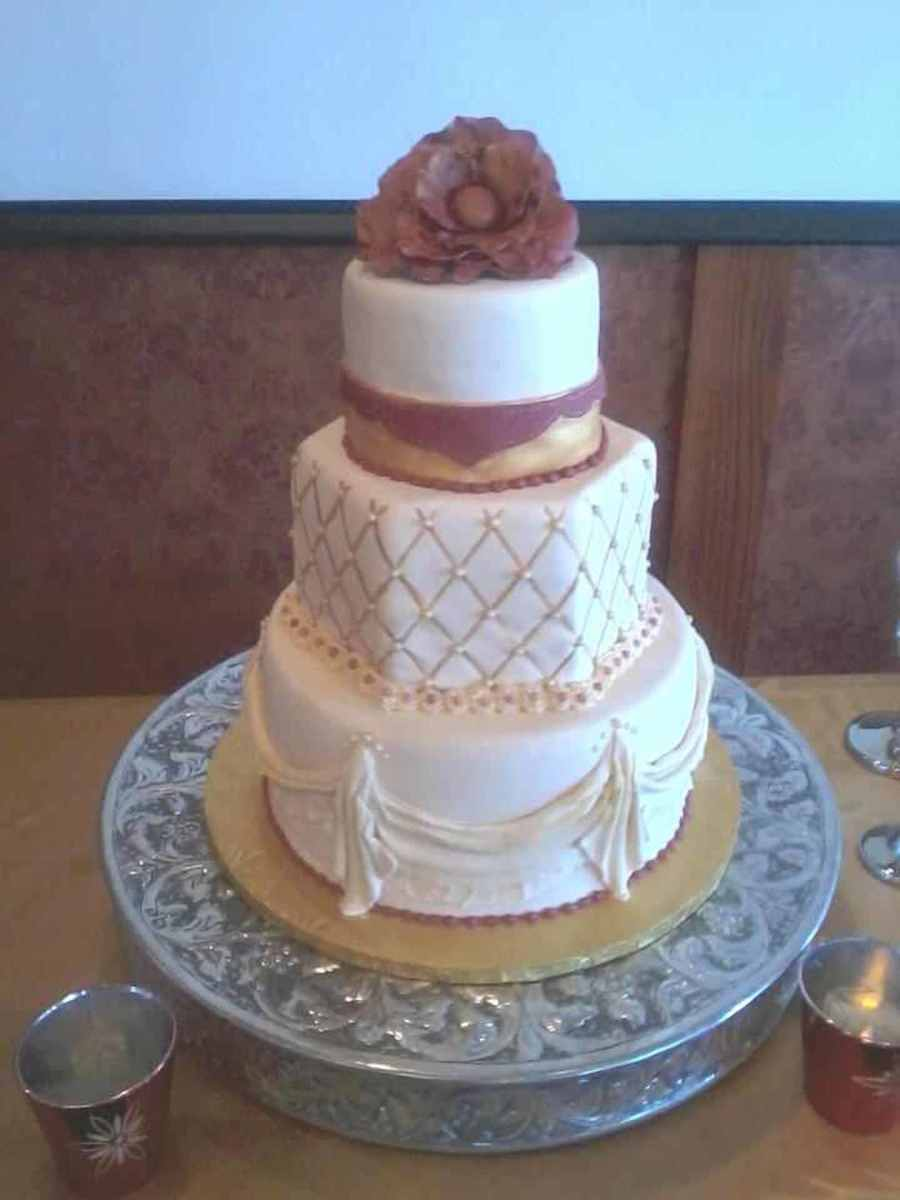 Drapes, Quilted Pattern And Giant Flower on Cake Central