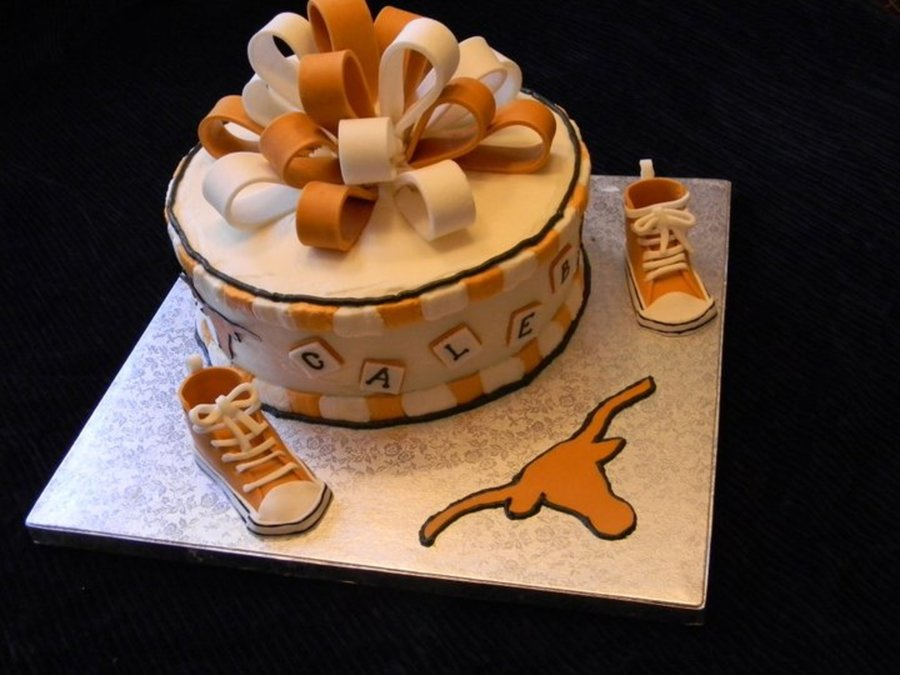 Texas Longhorn Baby Shower Cake on Cake Central