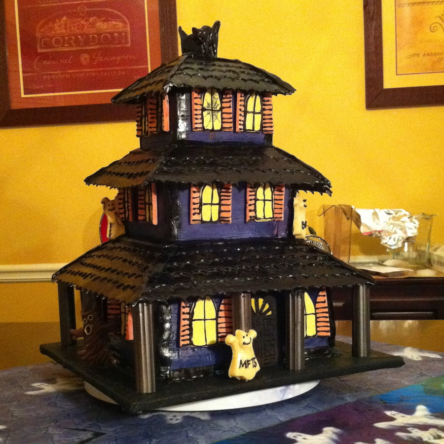 3 Story Haunted House Cake on Cake Central